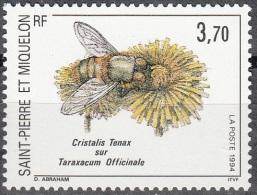 Saint-Pierre & Miquelon 1994 Yvert 594 Neuf ** Cote (2015) 2.00 Euro Insecte Et Fleur - Neufs