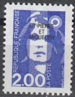 Saint-Pierre & Miquelon 1994 Yvert 605 Neuf ** Cote (2015) 1.20 Euro Marianne Du Bicentenaire - Neufs