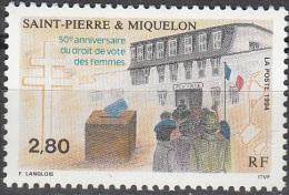 Saint-Pierre & Miquelon 1994 Yvert 597 Neuf ** Cote (2015) 1.65 Euro 50 Ans Droit De Vote Des Femmes - Neufs