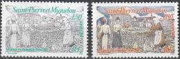 Saint-Pierre & Miquelon 1994 Yvert 595 - 596 Neuf ** Cote (2015) 1.90 Euro Le Séchage De La Morue - Neufs
