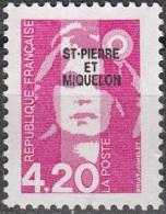 Saint-Pierre & Miquelon 1993 Yvert 572 Neuf ** Cote (2015) 2.40 Euro Marianne Du Bicentenaire - Neufs