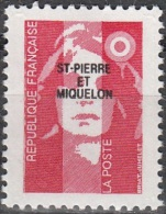Saint-Pierre & Miquelon 1993 Yvert 578 Neuf ** Cote (2015) 1.60 Euro Marianne Du Bicentenaire - Neufs