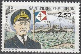 Saint-Pierre & Miquelon 1993 Yvert 573 Neuf ** Cote (2015) 1.65 Euro Commandant R. Birot - Neufs
