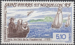 Saint-Pierre & Miquelon 1993 Yvert 579 Neuf ** Cote (2015) 2.30 Euro Exode Des Miquelonnais Vers Les îles Madeleine - Neufs