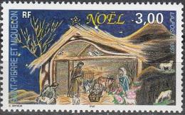Saint-Pierre & Miquelon 1997 Yvert 662 Neuf ** Cote (2015) 2.10 Euro Noël La Crèche - Neufs