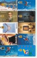 10 Télécartes Différentes De FRANCE  A PUCE (LOT 17) 10 DIFFERENT CHIP PHONECARDS  FRANCE * 10 TELEFONKARTEN FRANKREICH - Télécartes