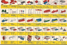 LEGO SYSTEM - Liste De Prix En Anciens Francs Belges. - Lego System