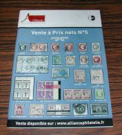 Catalogue Alliance Philatélie Vente à Prix Nets N° 5 - Français