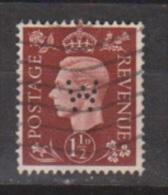 Engeland United Kingdom, Great Britain, Angleterre, Bretagne, King George VI, SG 464, Y&T Used PERFIN W - 1902-1951 (Koningen)