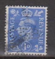 Engeland United Kingdom, Great Britain, Angleterre, Bretagne, King George VI, SG 504, Y&T Used PERFIN C&B - 1902-1951 (Koningen)