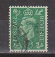 Engeland United Kingdom, Great Britain, Angleterre, Bretagne, King George VI, SG 485, Y&T Used PERFIN LL - 1902-1951 (Koningen)