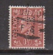 Engeland United Kingdom, Great Britain, Angleterre, Bretagne, King George VI, SG 487, Y&T Used PERFIN HMSO - 1902-1951 (Koningen)