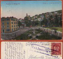 METKOVIC  - Magaza I Ured Za Duhan ( Croatia ) * Travelled 1917. To Bobovisce , Island Brac * K.u.K. CENSURE - Croatia