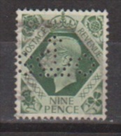 Engeland United Kingdom, Great Britain, Angleterre, Bretagne, King George VI, SG 473, Y&T Used PERFIN S Crown O - 1902-1951 (Koningen)