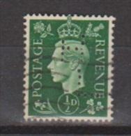 Engeland United Kingdom, Great Britain, Angleterre, Bretagne, King George VI, SG 462, Y&T Used PERFIN HL - 1902-1951 (Koningen)