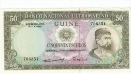Portugese Guine #44 50 Escudos, 1971 Banknote Money Currency - Banknotes