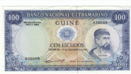 Portugese Guine #45 100 Escudos, 1971 Banknote Money Currency - Banknotes