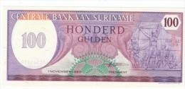 Suriname #128b 100 Gulden 1985 Banknote Money Currency - Surinam