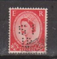 Engeland United Kingdom, Great Britain, Angleterre, Bretagne, Queen Elizabeth II, SG 574, Y&T 266 Used PERFIN - 1952-.... (Elizabeth II)