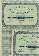 Sté Financiere Du Congo Français, 2 Titres - Afrique