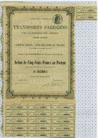 Cie Générale De Transports Parisiens Par Le Matériel Des Omnibus - Transports