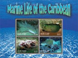 UNION ISLAND, 2013,MARINE LIFE,SHARKS, MORAY EELS, FISH,  SHEETLET+ S/SHEET - Marine Life