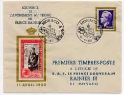 Monaco - SOUVENIR DE L'AVENEMENT AU TRONE DU PRINCER RAINIER -  1940 - Non Classés