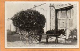 A Wood Hauler Juarez Mexico Old Real Photo Postcard - Mexico