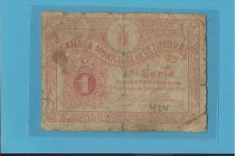 CEZIMBRA - CÉDULA De  1 CENTAVO - 28.10.1921 - PORTUGAL - EMERGENCY PAPER MONEY - NOTGELD - Portugal
