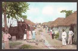 PR3) Puerto Rico - Village Street - 1913 - Puerto Rico