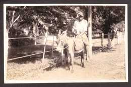 TR10) Boy Riding A Donkey - RPPC Ca.1920s - Trinidad