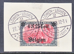 GERMAN  OCCUPATION  BELGIUM  N25  On  Piece  (o) - Occupation 1914-18