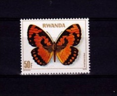 V] 1 Timbre Stamp  ** Rwanda Yv. 874 Papillon Butterfly Insecte Insect - Papillons
