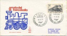 ITALIA - FDC  VENETIA 1970 -  GIORNATA DEL FRANCOBOLLO - VIAGGIATA PER VENEZIA - F.D.C.