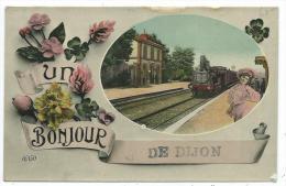 CPA -UN BONJOUR DE DIJON -Côte D' Or (21) -Circulé - Dijon