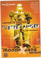 Carte Postale Publicité Amnesty International : L'hêtre à Panser / Beaubourg / 2001 - Museum