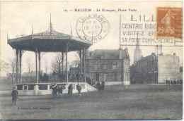 CPA Halluin Place Verte Le Kiosque - France