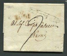 1813  RARA PREFILATELICA NAPOLEONICA  DA  117 TODI  X NARNI  TENI  INTERESSANTE  TESTO STORICO - 1. ...-1850 Prefilatelia