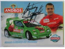 Franck LAGORGE - Dédicace Authentique - Hand Signed - Autographe - Motorsport