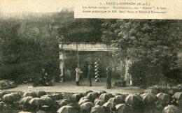 CPA 49 DOUE LA FONTAINE LES ARÈNES ANTIQUES REPRÉSENTATION DES OBERLE LE BEAU DRAME PATRIOTIQUE .... - Doue La Fontaine