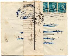Mercure N°549 Sur Imprime Sous Bande (07.12.1943) De Dijon Gare - Postal Rates