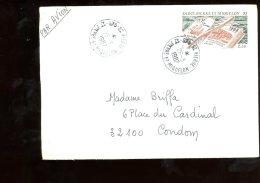 Enveloppe Saint Pierre Et Miquelon 1987 - St.Pierre Et Miquelon
