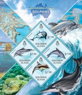 slm13415a Solomon Is. 2013 Australian Fauna Dolphins s/s