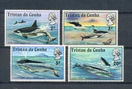 TRISTAN DA CUNHA * SERIE 4v YEAR 1975 KILLER WHALE WHALES * MNH - Tristan Da Cunha