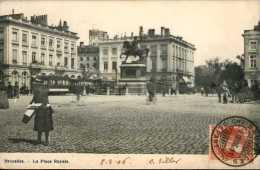 Bruxelles -  La Place Royale / Tram / 1906 - Zonder Classificatie