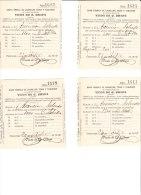 01932 4 Recibos De Envio Catarroja- 1930 - Spagna