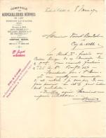 Vieux Papier - Doubs 25 - Fesches-le-Chatel - Comptoir Des Quincailleries Réunies - Japy, Viellard, Migeon - Mars 1907 - Non Classés