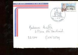 Enveloppe Saint Pierre Et Miquelon 1987 Philatélie - St.Pierre Et Miquelon