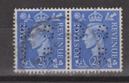 Engeland United Kingdom, Great Britain, Angleterre, Bretagne, King George VI, SG 489, Y&T Used PERFIN DSIR Paar Pair - 1902-1951 (Koningen)