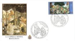 Vatican City 2000 Sistina Chapel FDC - FDC